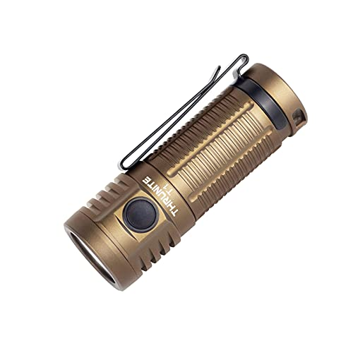 ThruNite T1 1500 Lumen Compact Rechargeable EDC Flashlight Side-Switch Mini Light with CREE XHP50...