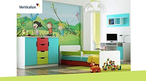 VERTICALUX EIN Set de 4 pièces pour Enfant Winnie l'ourson avec lit. Amusez-Vous en Toute sérénité pour Votre Enfant.