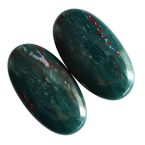 24140 - Par de cabujón natural, tamaño 22 x 12 x 4 mm, forma ovalada, pendientes lisos, piedras preciosas para joyería