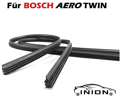 650 / 450 2x Wischergummi Scheibenwischer Gummis Ersatz für Bosch Aerotwin Scheibenwischer INION® (2x Ersatzgummi 650mm 450mm)