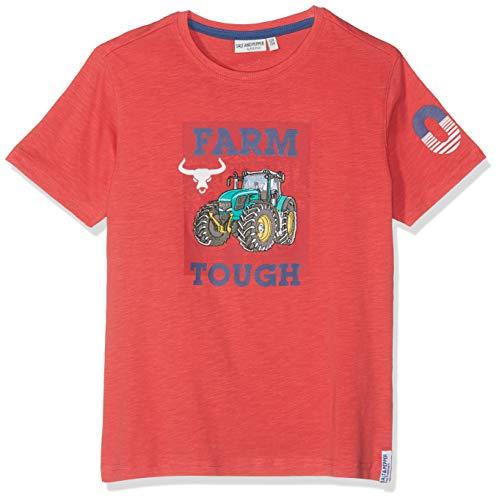 SALT AND PEPPER Jungen Tractor Uni Farm T-Shirt, Orange (Bright Orange 376), 104