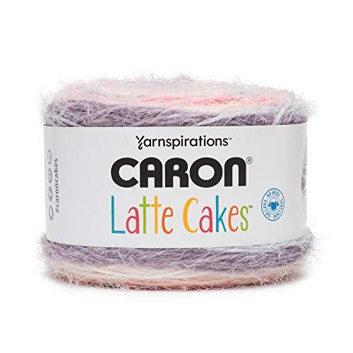 Caron Latte Cakes Self-Striping Yarn, 8.8 oz. / 250g, 530 Yards / 485 Meters (Plum Fresh 291222-22018)