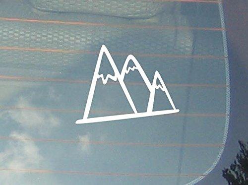 spb87 Mountans Sneeuw - Avontuur Vrijheid Natuur Pine Trip Familie, Kinderen, Sport, Vinyl Venster Auto Sticker Laptop Sticker Liefde Hart decor Home Live Kids grappige muur kunst stickers