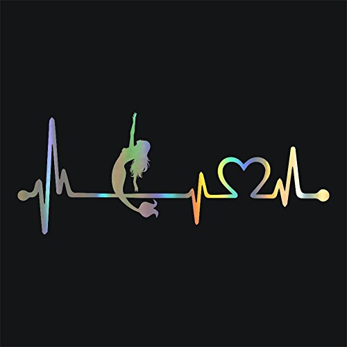 Meitinalife Car Stickers and Decals Mermaid Heartbeat Lifeline Stickers for Car Door Body Decoration Funny Car Styling Bumper Stickers Waterproof Windshield Window Vinyl Stickers (3)