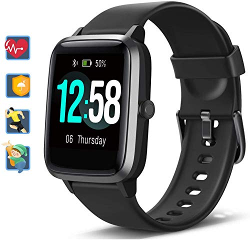 Orologio Fitness Smartwatch Uomo Donna, Blackview Fitness Tracker con cardiofrequenzimetro Sleep Monitor per Android iPhone Huawei Samsung Xiaomi, Impermeabile 5ATM Orologio Sportivo