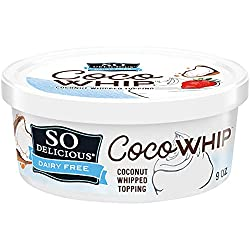 So Delicious Dairy Free CocoWhip Original, Vegan, Non-GMO Project Verified, 9 oz. Tub