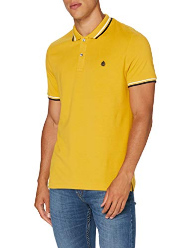 Springfield Herren 5ba BSC Slim Tipping Org-c/08 Poloshirt, Gold (Gold/Mustard 8), X-Large