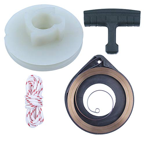 Recoil Starter Pulley Spring Handle Grip Rope Kit For HUS 50 51 55 Rancher