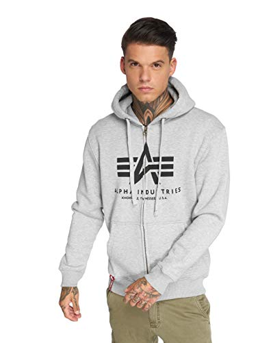 Alpha Industries Basic Zip Hoodie Grau XL