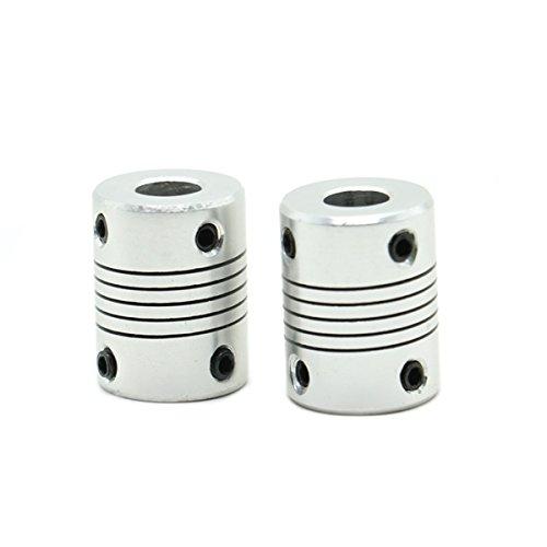 HUELE Flexible Couplings 5mm to 8mm NEMA 17 Shaft for RepRap 3D Printer or CNC Machine ,2 PCS