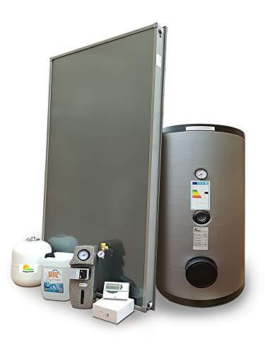 Kit impianto solare termico circolazione forzata per produzione Acqua Calda Sanitaria, 1-3 persone, bollitore 200 litri, FKS