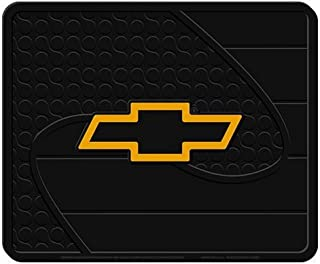 """Plasticolor Chevy Gold Bowtie Factory Style Molded Utility Mat- 14"""""""