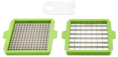 Blades and Cleaning Brush for Brieftons QuickPush Food Chopper - Classic Version