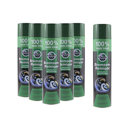 P4B   6X Bremsenreiniger - 600 ml Spraydose   Hochaktiver Spezialreiniger   Materialschonender Reiniger   Ohne Rückstände