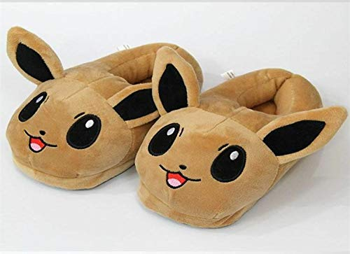 LIJIA Pokemon Hausschuhe Pokemon Kabi Beast Jenny Schildkröte Pikachu Kinderschuhe Winter Indoor Baumwollschuhe Warme Schuhe