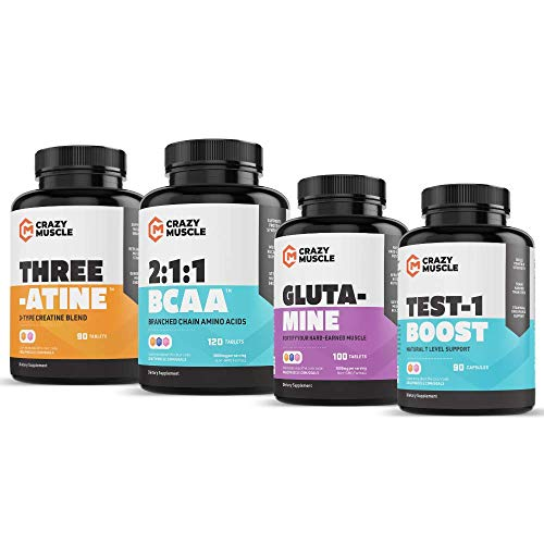Crazy Muscle Advanced Bulking Stack (4 Product Bundle) by Crazy Muscle: Sky Rocket Your Muscle Building