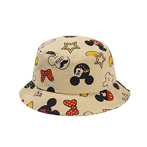 UKKD Sombrero de Sol para niños Sombrero De Verano para Niños Historieta Minnie Hat Baby Pescador Sombrero