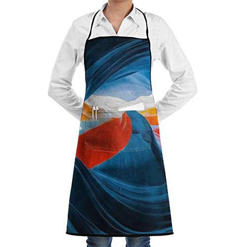 QUEMIN Bib Apron Beauty Antelope Canyon Printed Adjustable Kitchen Cooking Chef Apron with Pocket for Men/Women, Cooking Baking Crafting Gardening & BBQ