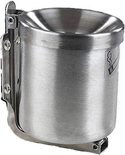Edelstahl Kipp Wandaschenbecher 1 L (110x120mm). Sicherheitsaschenbecher für Gastronomie und Zuhause Windaschenbecher und Standaschenbecher Made in Germany