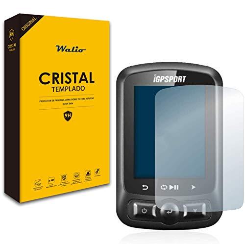 walioes iGPSPORT Original Protector de Cristal Templado para Pantalla iGPSPORT iGS618 / iGS620 - Borde 2.5D, Anti Huellas, Protección oleofóbica e hidofóbica, Total Visión Clara