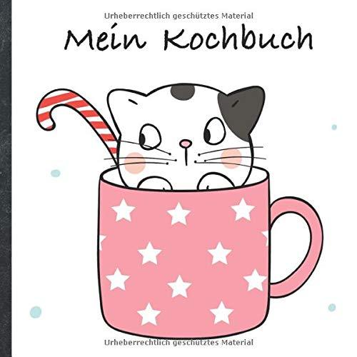 """Mein Kochbuch: blanko Rezeptbuch zum Selberschreiben • Platz für 100 Rezepte • mit Register • Design """"DIY Cats in Cups"""" • praktisches 21 x 21 cm Soft ... vegan oder zum Grillen • Do it Yourself!"""