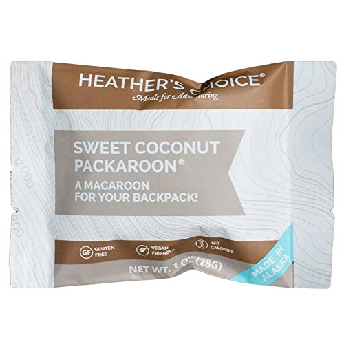 Heather's Choice Packaroons, Sweet Coconut, Wholesome, Gluten-Free, Allergen-Friendly Coconut Cookies for Backpacking, Camping, Hunting and Travel (Pack of 4)