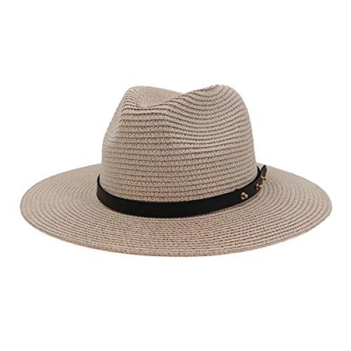 Sombreros De Paja Gorra De Mujer Sombreros De Mujer Gorras De Jazz De ala Ancha Hombres Mujeres Casual Vintage Clásico Caqui Negro Azul Playa Sombreros para El Sol Al Aire Libre
