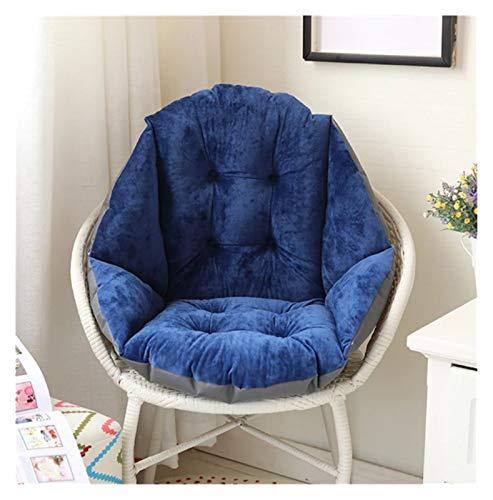 RongWang Halbgeschlossenes Kissen Liegestuhl Kissen Verdicken Klappbarer Stuhl Kissen Schreibtisch Sitzkissen Pads Gartenliege Matte (Color : E)
