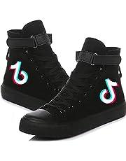 LVABC Tik Tok schoenen voor dames van velours, hoge sportschoenen, hardloopschoenen, wit