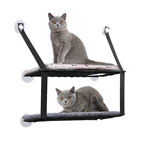 DADYPET Katzen Hängematte, Katzenbett Schlafbett für große Katzen-Miezekatze 12kg