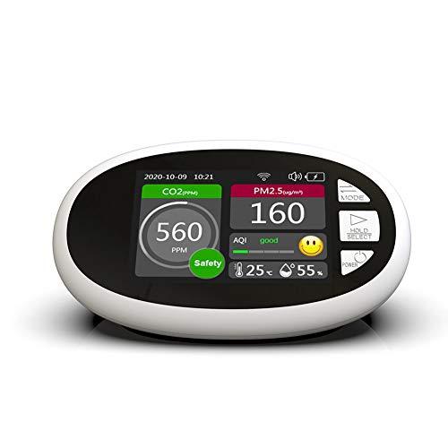 Huante - Monitor de calidad del aire, PM2.5 PM1.0 PM10, índice de calidad del aire, monitor de humedad de la temperatura con Wi-Fi