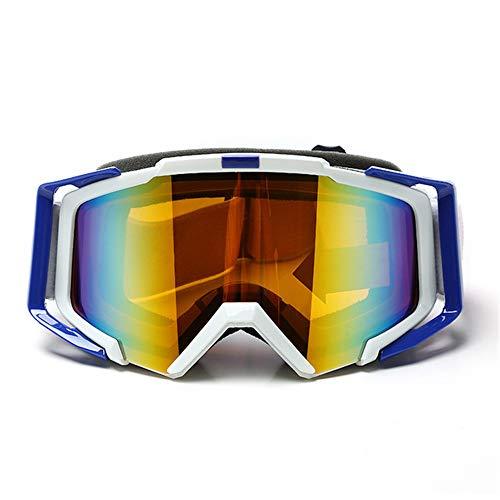 SMBYQ Motorbril, Dirt Bike, anti-UV-bril, voor motorcross, skiën, rijden, snowboarden, zonnebril, met rubberen band, antislip
