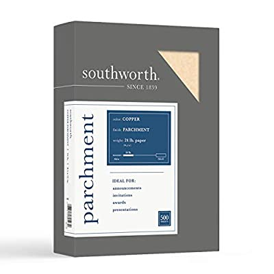 Southworth Parchment Specialty Paper, 24 Lbs., 8-1/2 X 11, 500/Box