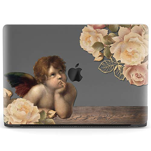 Mertak Hard Case for Apple MacBook Pro 16 Air 13 inch Mac 15 Retina 12 11 2020 2019 2018 2017 Raphael Print Roses Girl Shell Cover Plastic Protective Design Angel Sistine Madonna Laptop Art