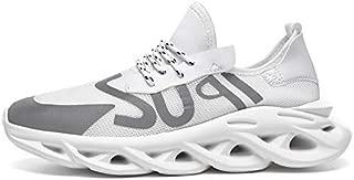 SR trade-YUNTU Shoes Men's Sports Shoes Men's Sports Shoes Fashion Breathable Casual Shoes (Color : G93 White, Shoe Size : 8)