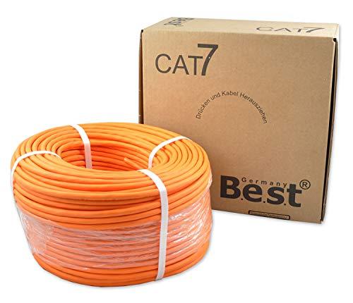 CAT.7 Verlegekabel BEST Gigabit Netzwerkkabel KUPFER Lan 1000Mhz S/FTP KAT 7-50m
