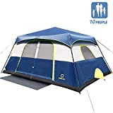 OT QOMOTOP 10 Person Camping Tent, 60 Seconds Instant Setup, 14 x 10ft with 6' 4'' Center Height, Waterproof Tents with Roof Rainfly