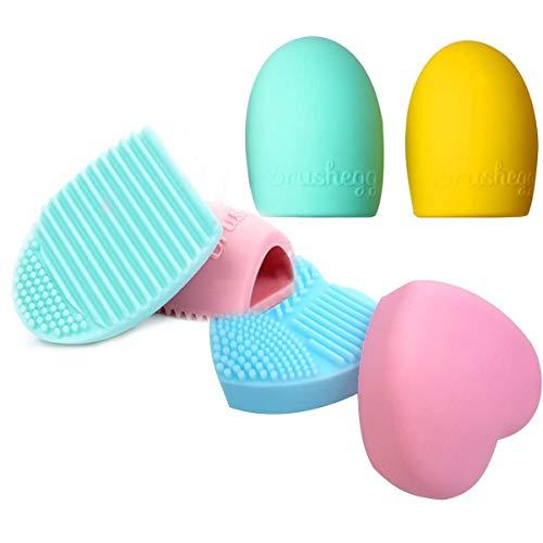 Xumier 6 pcs Pequeña limpiador de Brochas de silicona Herramienta de limpieza para pincel de maquillaje Pincel de maquillaje limpiador portátil,Cosmético Cepillo Limpieza para Maquillaje Cepillos