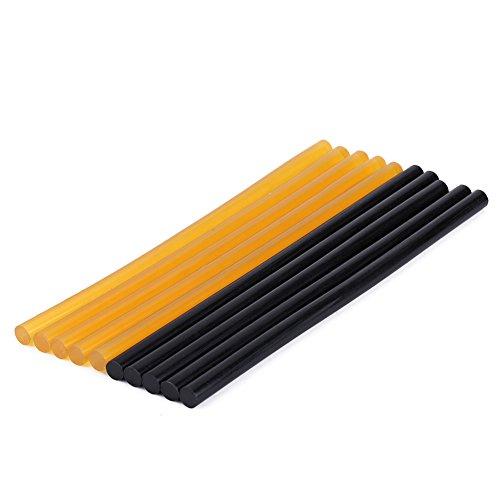 Hete lijm Sticks,5 * Gele Lijm Stick+5 * Zwarte Lijm Stick, 27 * 1,1cm / 10,62 * 0,43in
