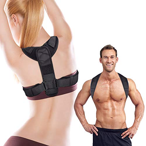 Posture Corrector for Men & Women-Adjustable Upper Straightener Brace Comfortable Posture Trainer for Spinal Alignment and Posture Support Invisible Thoracic Back Brace