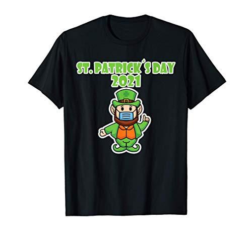 St. Patrick´s Day Kobold Maske Stay Safe, irischer Feiertag T-Shirt