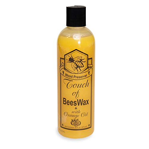 Beeswax Furniture Polish and Conditioner with Orange Oil. Wood Floor Scratch Repair, Feed Into Hardwood, Restore and Protect Cabinets 16 Ounce