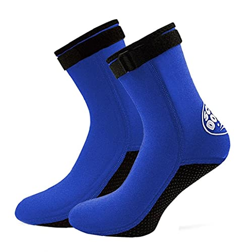 Liadance Mecha Senderismo Ciclismo Esquí Calcetines Calcetines Impermeables Buceo Calcetines Hombres Mujeres 3 Mm De Neopreno Water Beach Calcetines Azules 1 Par X-pequeña