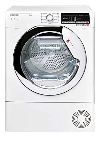 Hoover DXOC8TCE Freestanding Condenser Tumble Dryer with Aquavsion, WiFi Connected, 8Kg, White