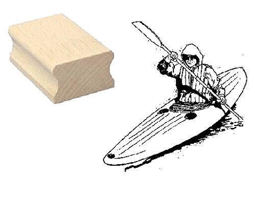 Stempel Holzstempel Motivstempel « KANU KAJAK » Scrapbooking - Embossing Sport Paddelboot Ruderboot