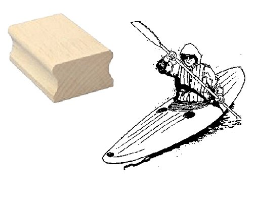 Stempel houten stempel motiefstempel « KANU KAJAK » Scrapbooking - Embossing Sport Peddelboot roeiboot