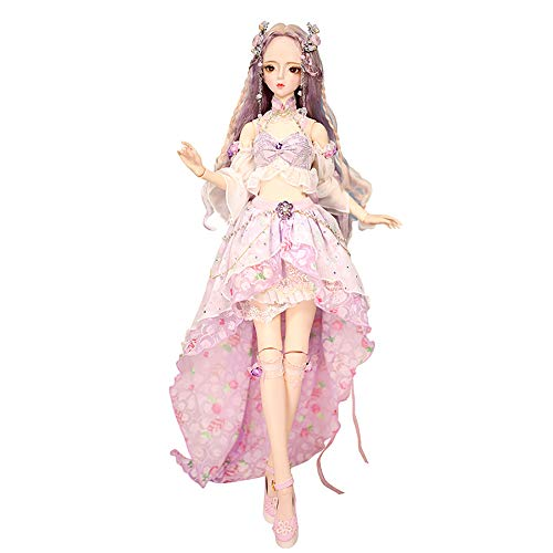 Dream Fairy Fortune Days Original Design 60 cm Dolls(with Gift Box), Series 26 Joints Doll, Best Gift for Girls (Vicky)