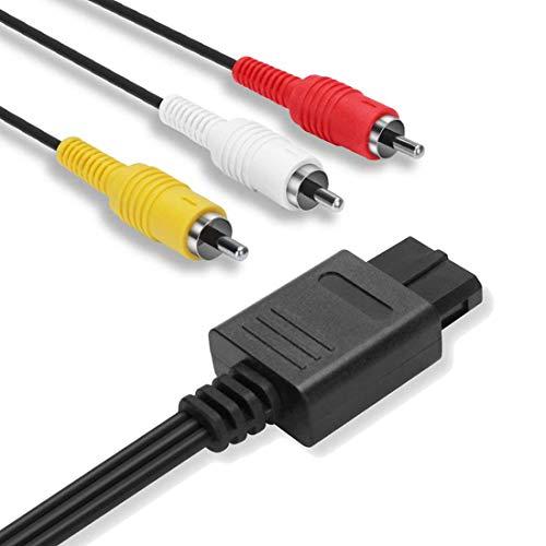MUZHI 2.5M Composite AV Cable Cord Compatible with Nintendo 64 N64, Super Nintendo SNES, Gamecube GC