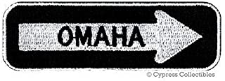 Omaha ONE-Way Sign Embroidered Iron-ON Patch Applique Nebraska Souvenir Road