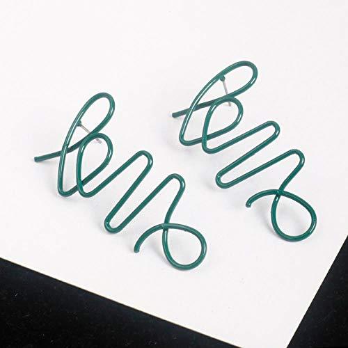 Oorbellen kleur eenvoudige letters lange paragraaf wild LOVE gebogen opvouwbare oorbellen overdreven oorbellen